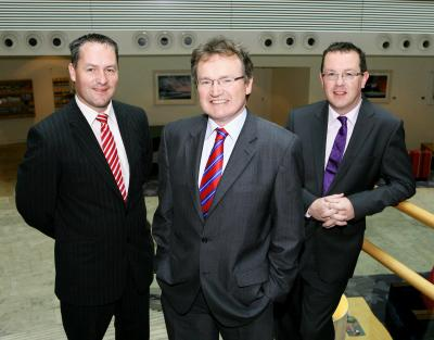 l-r Fionan O'Sullivan, IFG, Jim Power, Friends First, Kenny Kane, Quintas Wealth Management